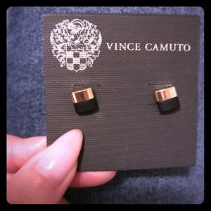 Vince Camuto Brand New Gold Black Earrings
